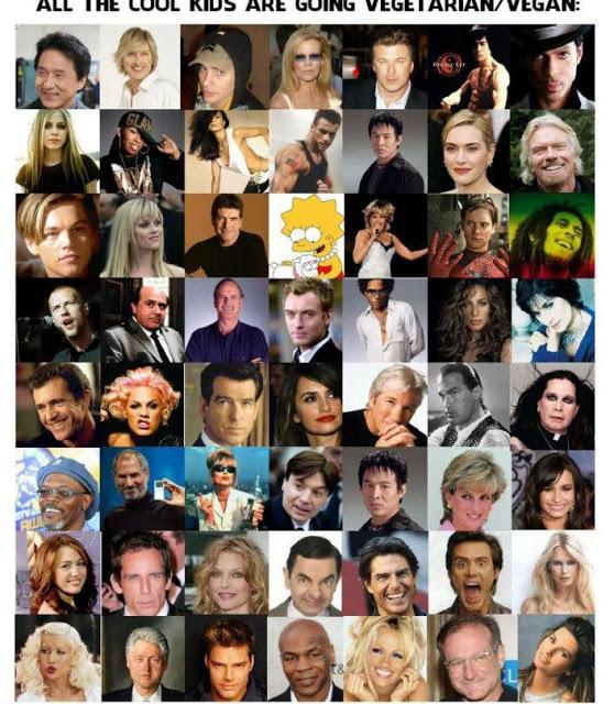 Resultado de imagen para famosos veganos