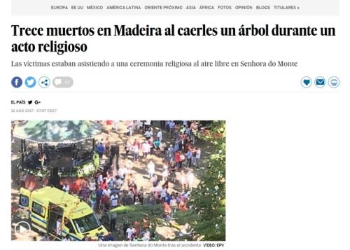 Resultado de imagen para 13 muertos asuncion virgen madeira